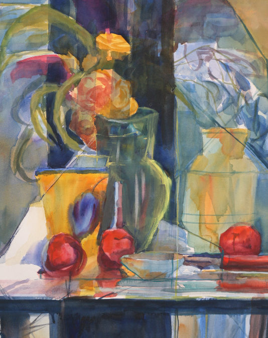 Blue and Yellow Still life