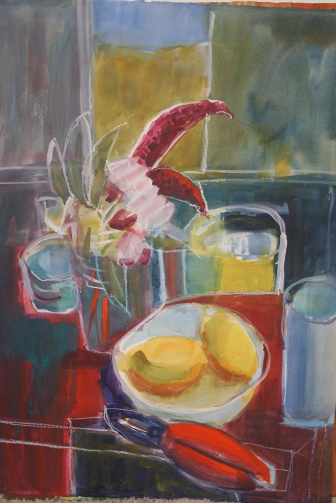 Lemons / red Table